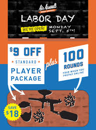 Labor Day Free Online Were Open Labor Day Air Assault Paintball