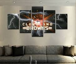 picture 1 of 12  on cleveland browns canvas wall art with cleveland browns football 5 pcs painting canvas wall art poster home