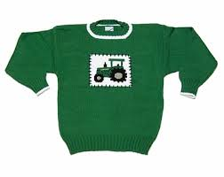 Glorimont Size Chart Glorimont Boys Kelly Green Farm Tractor Pullover Sweater