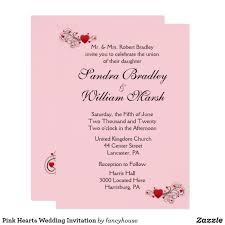 pi day invitation pink hearts wedding invitation wedding invitations pinterest