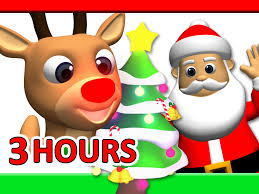 Christmas For Kids Kids Christmas Songs 3 Hours Rudolf Santa Claus Frosty More