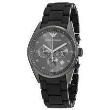 top 5 most popular best selling emporio armani watches for men ar5889 mens armani sportivo black chronograph rubber strap watch