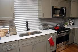 Kitchen Backsplash Design, Abstract Color Cheap Kitchen Backsplash  Alternatives Themed Brighten Up Dark Tan Decoration