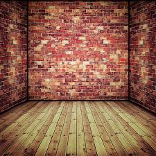 Abstract interior with old brick wall and wooden floor | Stock Photo |  Colourbox