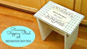 Kitchen Stencil Kitchen Stool Using Chalky Finish Paint And Stencil Youtube