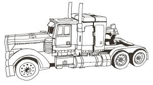 Small Picture Optimus prime truck coloring page