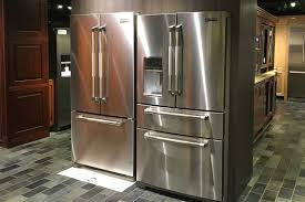 jenn air jffcc72efs. a refrigerator is counter depth when it\u0027s casing, excluding the door and handles, 24 inches deep. this means that in standard 24-inch deep cabinet, jenn air jffcc72efs s