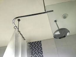 best shower rod smart l shaped shower curtain rod best of best shower rods from customers