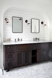 elegant black wooden bathroom cabinet. Contemporary Black Elegant Black Wooden Bathroom Cabinet Cabinets Cream Wall  To H