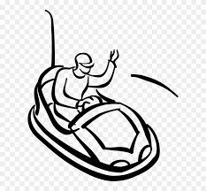 riding in car clipart.  Car Vector Illustration Of Riding Bumper Car In Theme Park  Clipart  Black And White P