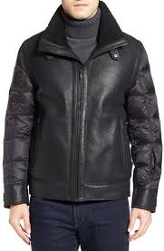 Tumi Genuine Shearling Nylon Quilted Flight Jacket | Where to buy ... & ... Tumi Genuine Shearling Nylon Quilted Flight Jacket ... Adamdwight.com