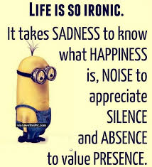 Life Is So Ironic Minion Quote Pictures Photos And Images For Extraordinary Quotes Related With Life