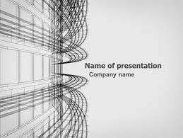 Architectural Powerpoint Template 3d Architecture Projecting Presentation Template For