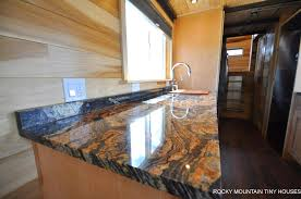 orinoco granite countertops pemberley by rocky mountain tiny houses