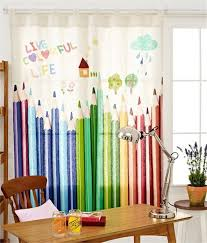 2016 new carton cute pencil lovely linen children curtain fabric window decoration in curtains from home garden on aliexpress com alibaba group