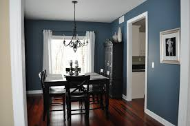 Blue Wall Paint Stylish My Fantasy Home Blue Accent Wall - Dining room paint colors dark wood trim