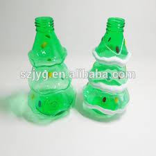 Decorated Plastic Bottles Chirstmas Decoration Plastic Bottle Green Tree Shapes Bottle For 70