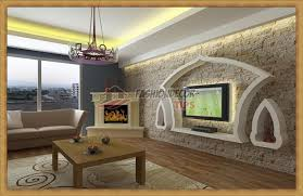 modern living room decorating ideas with wall niche designs