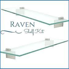 raven floating glass shelf kit 3 8 tempered glass shelf with 2 floating glass shelves floating