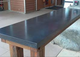 finish concrete countertops corete counter top created for in this is the waiver table as you enter the facility double charcoal is the color