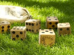 yard dice, family friendly outdoor games, outdoor games, board games,  Jeremy exley