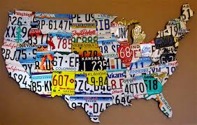 purchase license plate art and mapsdesign within usa map print pertaining to most popular license plate map wall art at license plate usa map print on license plate map wall art with purchase license plate art and mapsdesign within usa map print