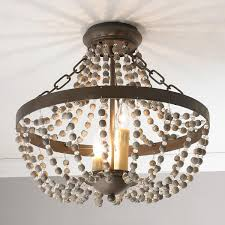 Beaded Ceiling Light Cover Rustic French Country Beaded Ceiling Light Convertible