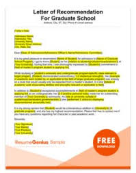 Recommendation Letter For Grad School Letter Of Recommendation Guide 8 Samples Templates Rg