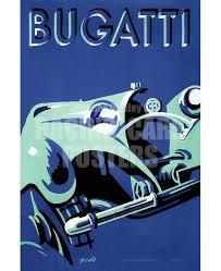 Bugatti auto poster / le pur sand des automobiles. Bugatti Type 50 Super Roadster 1932 Meta Poster Racing Cars Posters
