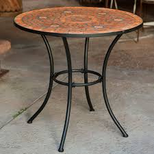 mosaic bistro table and chairs cozy c coast terra cotta set of 2 hayneedle 3200