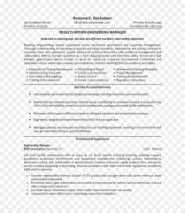 Resume Engineering Management Project Engineering Project Manager