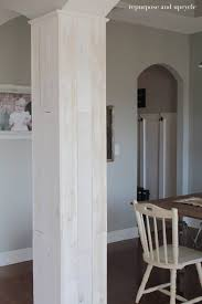 adding wood planks to our dining room column and side wall