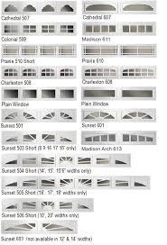 clopay garage door window insertsWindow Options