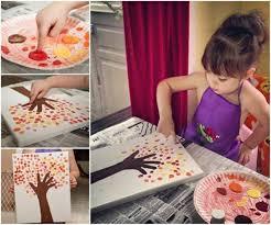 diy fingerprint tree painting