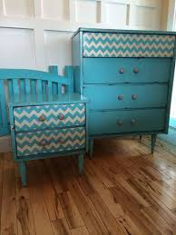 chevron painted furniture. Classic Pattern Painted Onto Dresser Drawers - Modern Chevron Furniture Stencil By Royal Design Studio