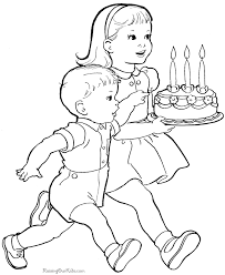Generally the simpler, larger shapes are better for younger children because they are easier to color with larger. Pictures To Color For Children Coloring Home