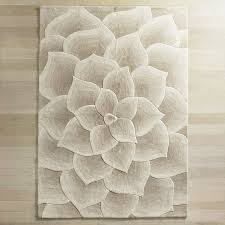 beautiful rose tufted ivory rug for contemporary living room floor design