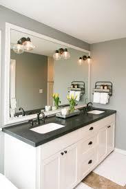 Bathroom Vanity Granite The Master Bathroom Has Black Granite Countertops With Double