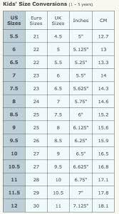 Vans Shoe Size Chart Youth Bedowntowndaytona Com