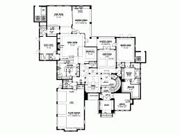 Eplans Mediterranean Modern House Plan   Sweeping Staircase      Level