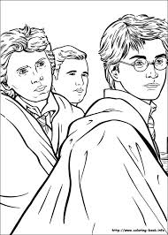 Color the pictures online or print them to color them with your paints or crayons. Harry Potter Coloring Picture