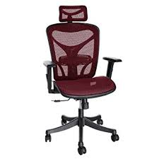 red office chairs. ANCHEER Ergonomic Office Chair, High Back Mesh Chair With Adjustable Lumbar Support,Armrest Red Chairs N