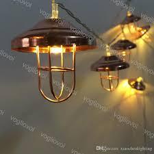 lights 4 5v iron cover hanging ornaments warm white 3m 2m 1m hat holiday decor xmas gift festival pendants xmas adornos dhl outdoor patio string