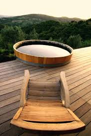 outdoor japanese soaking tub. diy outdoor soaking tub japanese classic water collector on wooden deckoutdoor soaker tubs canada building b