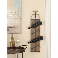 interior cole grey woodmetal 4 bottle wall mounted wine rack reviews wooden wall mounted wine