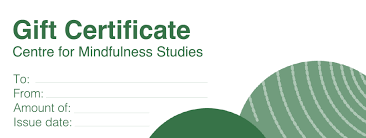 Holiday Gift Certificate Holiday Gift Certificate Centre For Mindfulness Studies