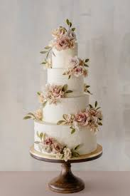 4 Tier Wedding Cake Designs Beautiful 4 Tier Wedding Cake With Floral Appliques By