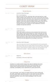 Assistant Store Manager Resume Samples Visualcv Resume Samples