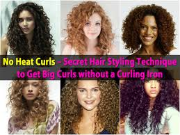Hair Style Curling no heat curls secret hair styling technique to get big curls 4222 by wearticles.com