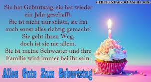 Schöne Süße Liebe Geburtstagswünsche Für Schwester Mit Bilder